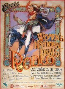 2004 Women's National Finals Rodeo Poster