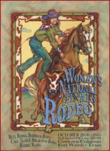 2005 Women's National Finals Rodeo Poster