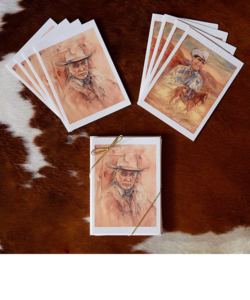 The Horsemen Set of 8 Note Cards